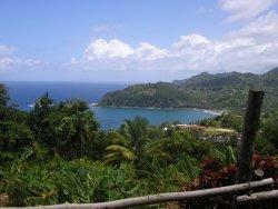 Overlooking Castle Bruce Beach, Dominica